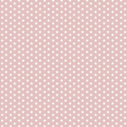 POPLIN MINI STARS 4 MM / ROSE