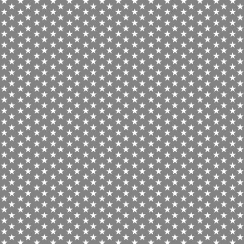 POPLIN MINI STARS 4 MM / GREY