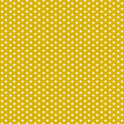 POPLIN MINI STARS 4 MM / YELLOW