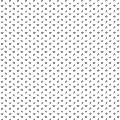 POPLIN MINI STARS 4 MM / WHITE-GREY