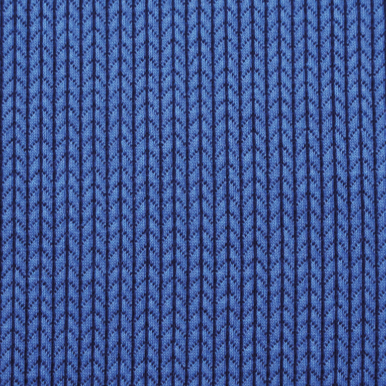 ALBSTOFFE BIG KNIT / bluette-blue navy / Bio-Jacquard GOTS