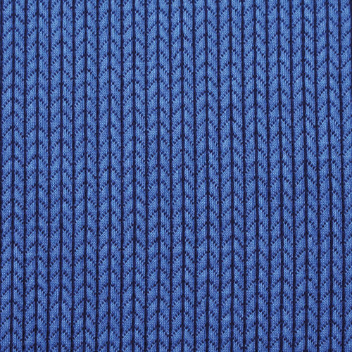 ALBSTOFFE BIG KNIT / bluette-blue navy / Bio-Jacquard kbA