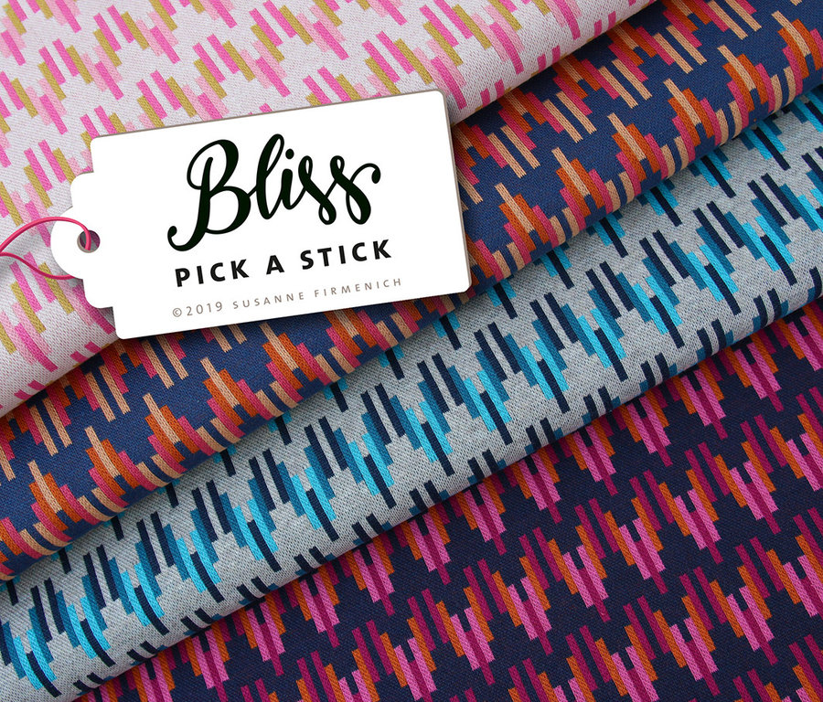 ALBSTOFFE / BLISS - PICK A STICK No. 2 / Bio-Jacquard GOTS / Hamburger Liebe