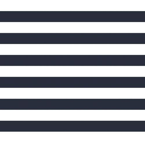 POPLIN STRIPE 25 MM / NAVY