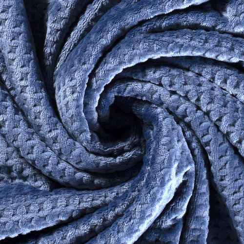 WELLNESS FLEECE WITH WAFFLE-LOOK / INDIGO
