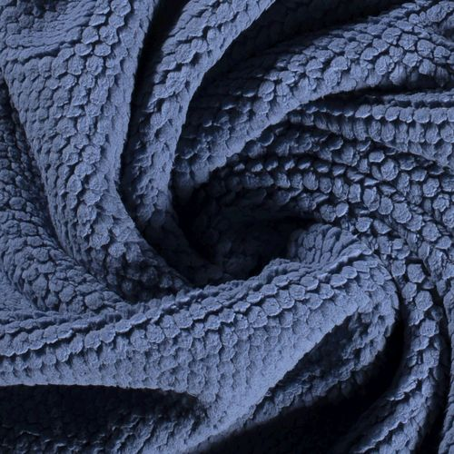 TREND FLEECE IN KNOT-LOOK WITH SOFT FACE / INDIGO