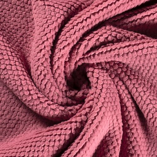 TREND FLEECE IN KNOT-LOOK WITH SOFT FACE / DUSTY PINK