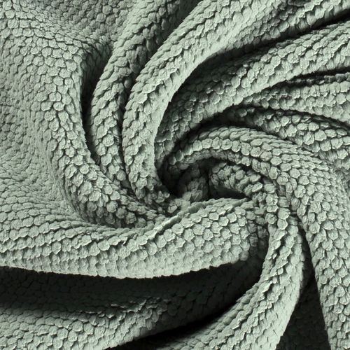 TREND FLEECE IN KNOT-LOOK WITH SOFT FACE / RESEDA GREEN