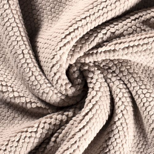 TREND FLEECE IN KNOT-LOOK WITH SOFT FACE / BEIGE