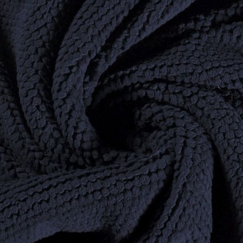 TREND FLEECE IN KNOT-LOOK WITH SOFT FACE / NAVY
