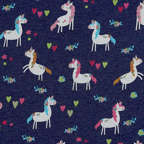 SWEAT GLITTER UNICORN PARTY • INDIGO MELANGE NON-BRUSHED