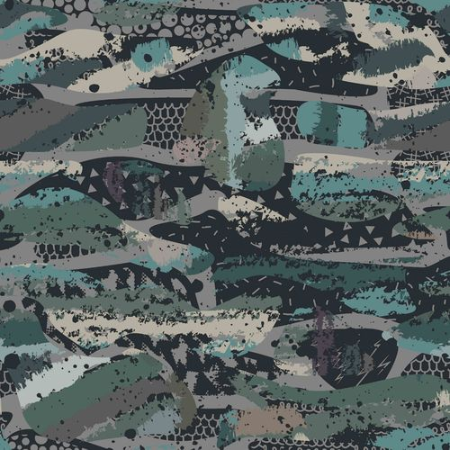 ORGANIC SWEAT DIGITAL CAMOUFLAGE • PETROL